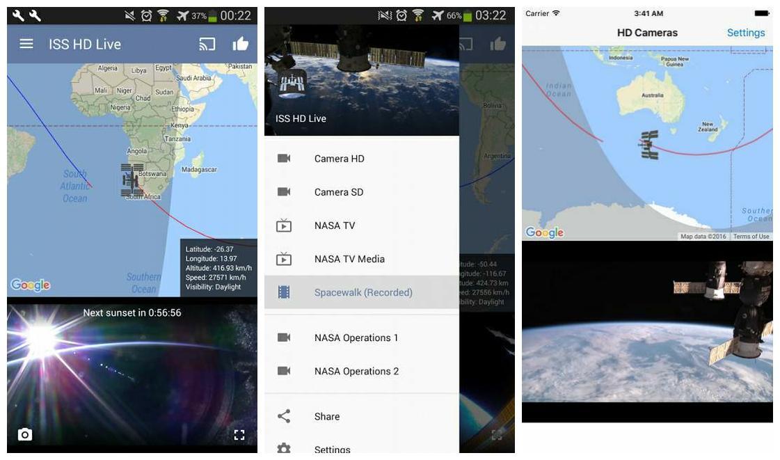 iss live now 一款宇航员空间站实时直播观看软件